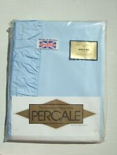 Percale Single frilled quilt Set Blue Vintage British Made still packed