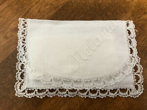 "SPANISH LACE TRIMMED FABRIC TISSUE HOLDER FOR PURSE:  ""MELANIA"""