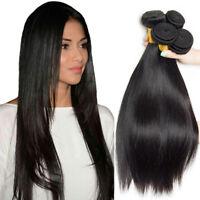 3 Bundles 300g Brazilian 100% Virgin Human Hair Weave Straight Hair Extensions