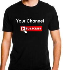 Personalized Youtube Subscribe T-shirt Unisex Social Media (Your channel)