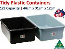 4x Portable Plastic Tidy Basin Tray 12L Kitchen Holder Storage Organizer