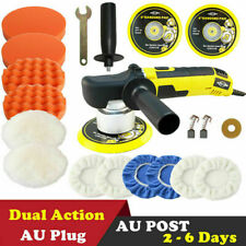 150mm Dual Action Car Polisher Buffer Polishing Machine & Buffing Bonnet Pad Kit