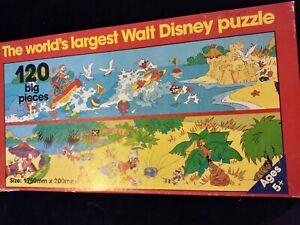 VINTAGE The World's Largest Walt Disney Puzzle 120 big pieces murfett regency