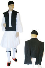 Greek Traditional Costume TSOLIAS BLACK Teens - Men MARK635