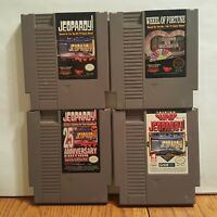 Nintendo NES Game Lot of 4 WHEEL OF FORTUNE , JEOPARDY , SUPER JEOPARDY , 25TH