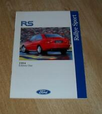 Ford RS Brochure 1994 Ed 1 - Escort RS2000 / RS2000 4X4 Escort RS Cosworth 4X4