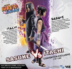 "Naruto Shippuden 4"" Sasuke Vs Itachi 2 pack Set - In-Stock 2018 SDCC Exclusive"