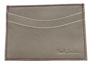Paul Smith Grey Saffiano Leather with contrast stitching Credit Card Holder