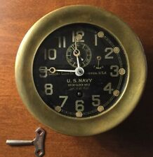 Ww1 Navy Chelsea 4.5� Marine #2 Deck Clock made 10/10/1917 All serial #'s Match