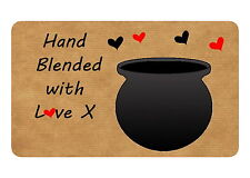 21 HAND BLENDED CANDLE / SOAP PERSONALISED GLOSSY STICKERS, SEALS LABELS