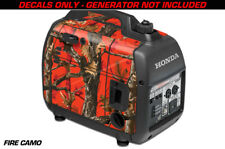 Decal Wrap For Honda EU2000i Skin Camping Generator Engine Sticker FIRE CAMO