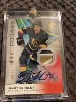 19-20 UD SP Game Used Hockey Authentic Rookies Jersey/Auto 172 Jimmy Schuldt /15