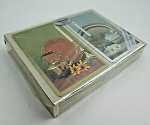 Double Deck of Congress Playing Cards Candle Lit Tea Pot and Tray Factory Sealed