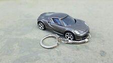 Diecast Alfa Romeo 4C Grey Toy Car Keyring NEW