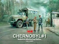ICM 35901 - 1/35 Chernobyl#1. Radiation Monitoring Station scale model kit