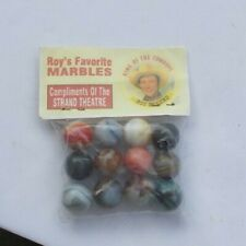 RARE Vintage SET Marbles Glass Colors Swirls Roy Rogers Favorite Strand Theater