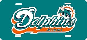 Miami Dolphins Team Logo License Plate