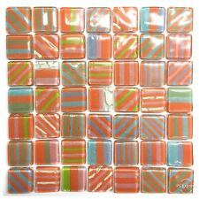 SUNRAY Mix Fused Glass Mosaic Tiles Sheets Borders Hand-Painted
