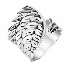 Guardian Angel Wing Wrap Around Sterling Silver Ring-8