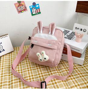 Cute Nylon Cartoon Bunny Messenger Bag Student One-Shoulder Small Square Bag