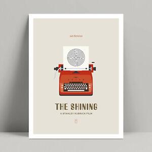 The Shining - Minimalist Movie Poster, Jack Nicholson, Stanley Kubrick Movies