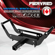 Universal Winch Cradle Mounting Plate Adjustable Mount Bracket w/ Receiver Hitch