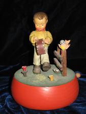 Vintage Anri Wood Music Box Camelot Works! Drummer Boy Excellent Must See