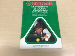 CORAL 1982 UK PROFESSIONAL SNOOKER CHAMPIONSHIP TOURNAMENT PROGRAMME - Signed