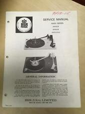 BSR Service & User Manual for the AA50 5 6 5D2 Turntable Record Changer