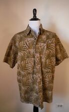 DrunkNMunky Men's Brown Camo SS Cotton Button Up Shirt Cellphone Pockets Size XL