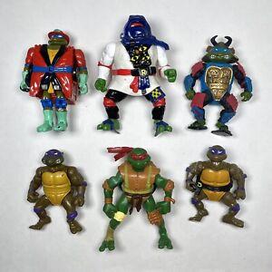 Vintage TMNT Teenage Mutant Ninja Turtles 1988-2006 Action Figures Lot of 6