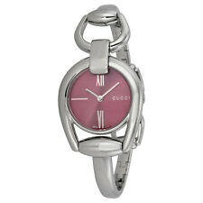 Gucci Horsebit Collection Red Dial Stainless Steel Ladies Watch YA139502