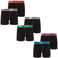 Tokyo Laundry Boxer Shorts Men's Boxers Trunks Underwear Black Stretch Cotton
