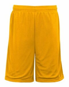 """Badger 9"""" Inseam Pro Mesh Pocketed Short 7219 S-3XL NEW Shorts with Pockets"""