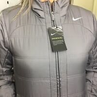 nike women jacket repel full zip dark gray 930320-036 msrp $150