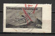 3053-SELLO FISCAL DE AVIACION HUERFANOS DEL EJERCITO DEL AIRE 0,50 PESETAS,APOR