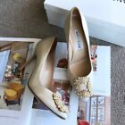 Authentic-Brand-New-In-Box-Manolo-Blahnik-Hangisi-Pumps-Heels-Shoes-Size-38