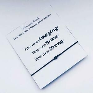 You Are Amazing Brave & Strong, Wish String Bracelet, Lockdown Gift