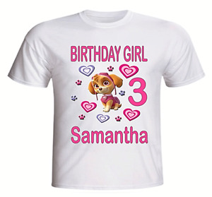 Paw Patrol Rocky Personalised Boys Girls T-Shirt Ideal Gift//Present