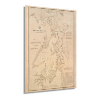 HISTORIX Vintage 1889 Puget Sound Map