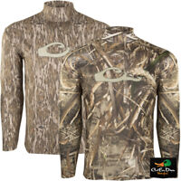 DRAKE WATERFOWL SYSTEMS PERFORMANCE CREW LONG SLEEVE CAMO T-SHIRT