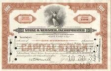 Stone & Webster Incorporated > 1939 nuclear engineering share stock certificate