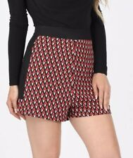 Diamond High Waisted Red/ Black /white Shorts Size 8 BNWT