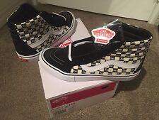 Black Checks Checkers Supreme Vans SK8 Hi Reissue Pro Skateboard Logo Size 10.5