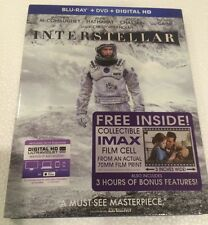 INTERSTELLAR - Blu-ray/DVD/Digital Copy; UltraViolet (No Souvenir Film Cell)
