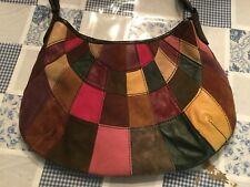 Lucky Brand Multi Color PATCHWORK Leather Hobo Shoulder Bag HOBO (PU170