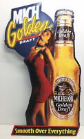 Rare Vintage Michelob Golden Draft Tin Beer Sign 1993