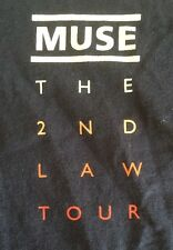 Muse The 2nd Law Tour Local Crew Concert Shirt Rare 2012 Large Blue Collectible
