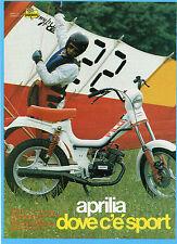 MOTOSPRINT982-PUBBLICITA'/ADVERTISING-1982- APRILIA FILO G4L