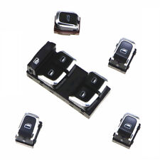 Chrome Whole Car Window Glass Electric Control Switch Button For Audi A4 A5 Q5